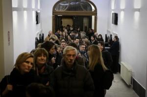 Der Ansturm der Besucherinnen und Besucher auf das Capa-Zentrum am 2. Dezember 2013.