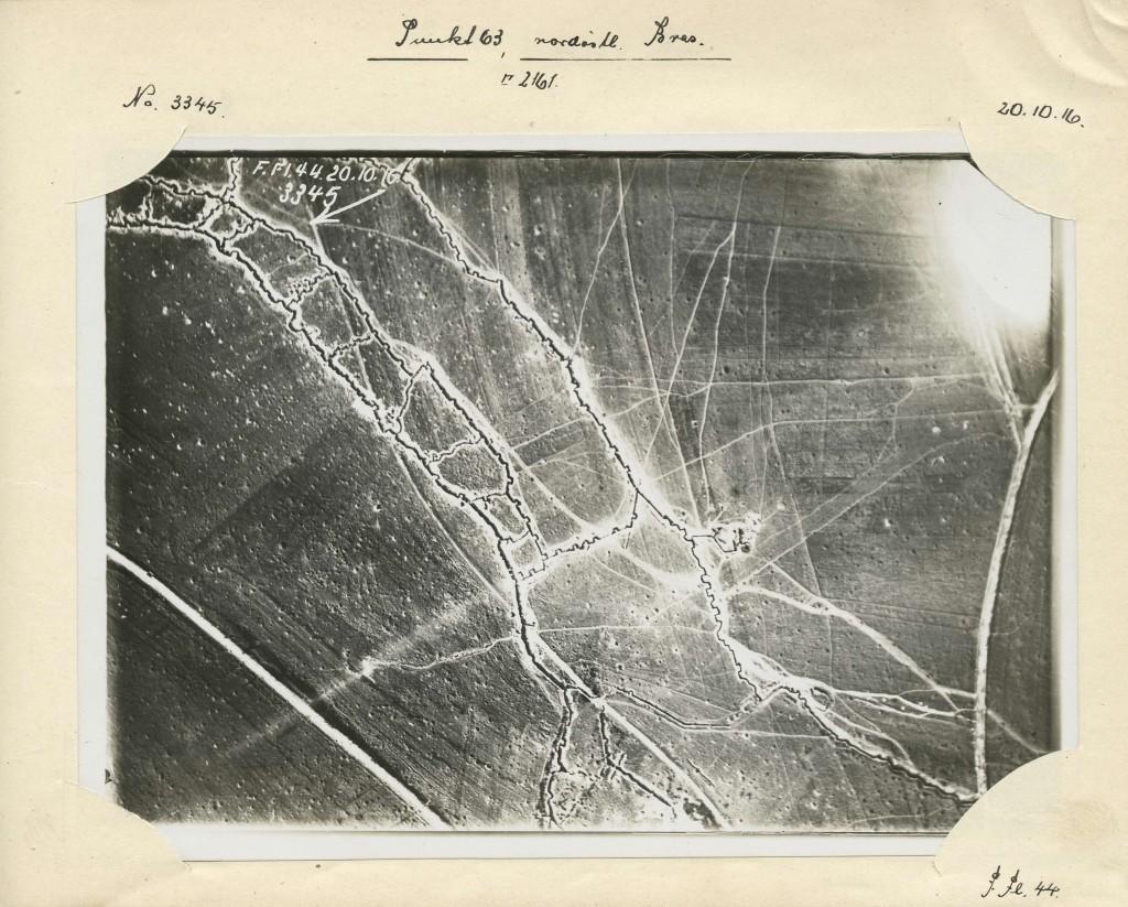 Luftaufklärung: Französische Stellungen im Gebiet nördlich von Verdun, 1916