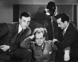 Hans Richter, Sergei Eisenstein und Man Ray, Paris, 1929