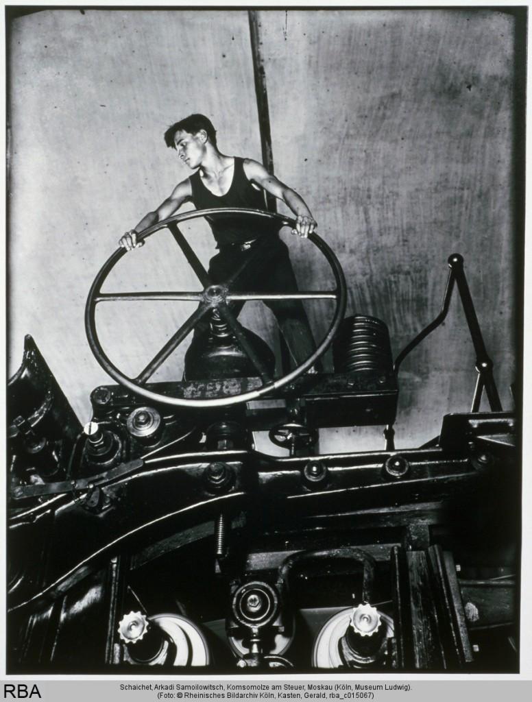 Arkadi Schaichet: Komsomolze am Steuer, Moskau 1936 Print, Fotografie Silbergelatine 48 x 41 cm