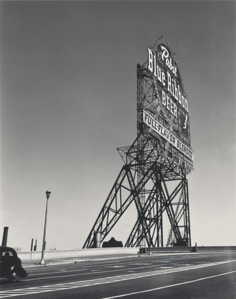 Walker Evans: Pabst Blue Ribbon Sign, Chicago, Illinois, 1946.
