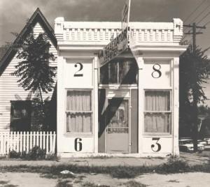 Walker Evans: Façade of House with Large Numbers, Denver, Colorado, August 1967