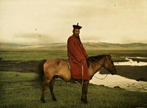 Albert Kahn, Les Archives de la planète, Stéphane Passet: Mongolei, nahe Ulaanbaatar, wahrscheinlich Damdinbazar, die achte Inkarnation des mongolischen Jalkhanz Kuthugtu, 17. Juli 1913.