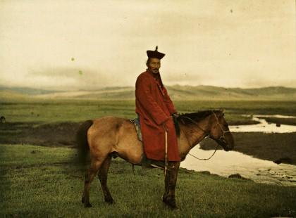 Albert Kahn, Les Archives de la planète, Stéphane Passet: Mongolei, nahe Ulaanbaatar, wahrscheinlich Damdinbazar, die achte Inkarnation des mongolischen Jalkhanz Kuthugtu, 17. Juli 1913