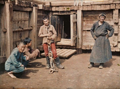 Albert Kahn, Les Archives de la planète, Stéphane Passer: Mongolei, Ulaanbaatar, Verurteilter und Wärter im Gefängnis, 25. Juli 1913