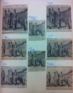 Abb. 6: Ausschnitte aus U.S.-amerikanischen Tageszeitungen vom 17. und 18. Juni 1943 (Signal Corps Photographs, compiled 1943–1944, National Archives Washington, 111-NC, Box 1