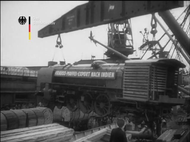 Export von Lokomotiven nach Indien, ; NDW Jahresrückblick vom 21.12.1952, © Bundesarchiv