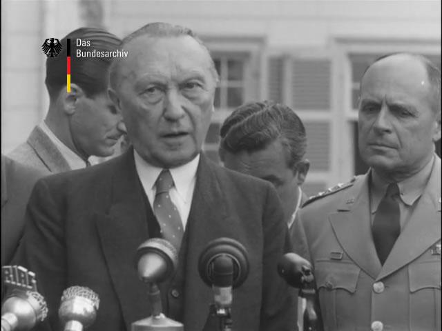 Pressekonferenz von Konrad Adenauer in Bonn 16.6.1953