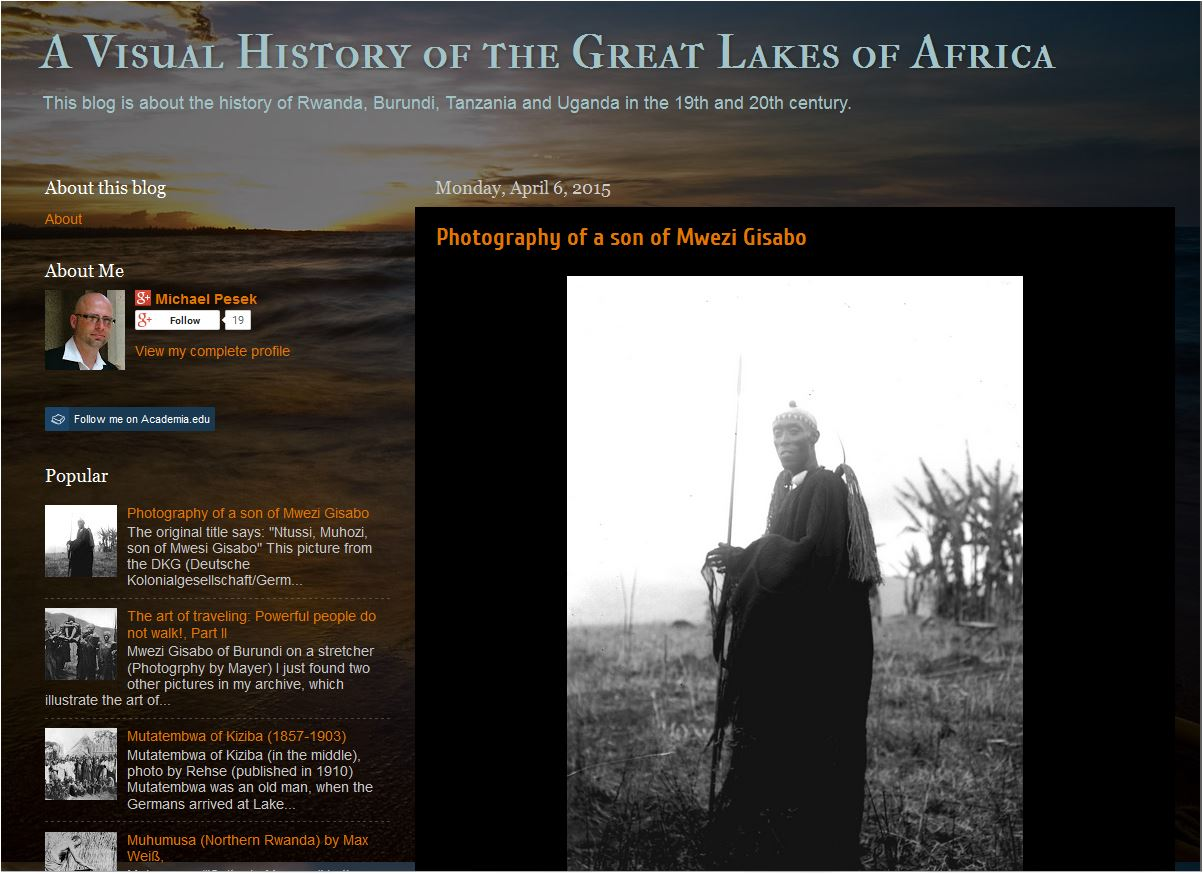 Screenshot Blog: A Visual History of the Great Lakes of Africa