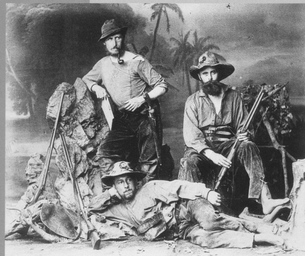 Henschel: Karl und Wilhelm von den Steinen und Otto Clauss nach ihrer zweiten Xingú-Expedition