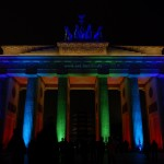 Brandenburger Tor in Farbe, Berlin 2009