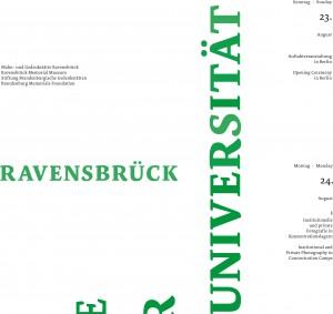 Plakat- 10. Europäische Sommer-Universität Ravensbrück