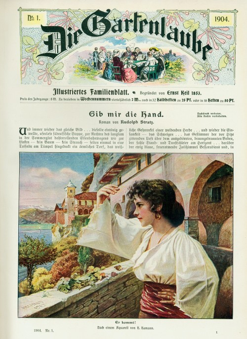 "Titelblatt ""Die Gartenlaube"" 1904, Nr. 1"