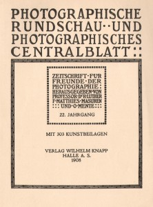 """Photographische Rundschau"" 1908"