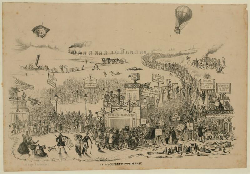 Théodore Maurisset, La La Daguerréotypomanie 1839