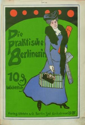 """Titelbild: """"Die praktische Berlinerin"""", 1905, Ullstein Verlag"""