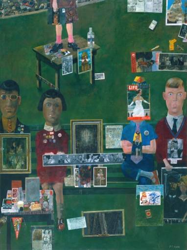 Peter Blake, On the Balcony, 1955-57, Öl auf Leinwand, Tate Galery. Licensed under Fair use via Wikipedia - https://en.wikipedia.org/wiki/File:Blake,_On_the_Balcony.jpg#/media/File:Blake,_On_the_Balcony.jpg