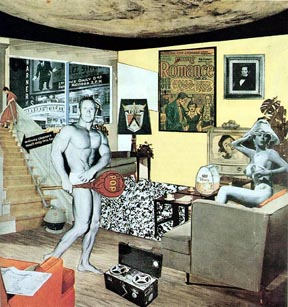 Richard Hamilton, Just what is it that makes today's homes so different, so appealing? Collage 1956. Licensed under Fair use via Wikipedia - https://en.wikipedia.org/wiki/File:Hamilton-appealing2.jpg#/media/File:Hamilton-appealing2.jpg