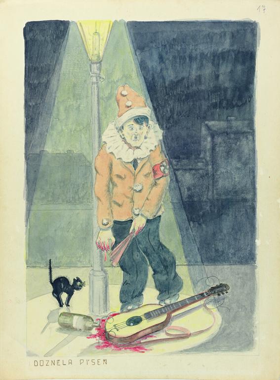 Pavel Fantl, Das Lied ist aus, 1942–1944 © Collection of the Yad Vashem Art Museum, Jerusalem, mit freundlicher Genehmigung