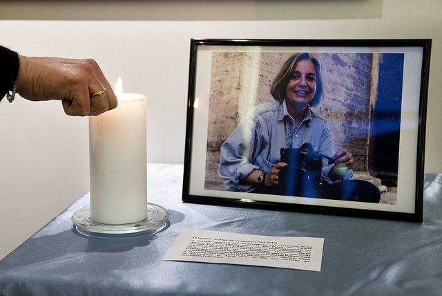 The United Nations Through their Lens: Photo Exhibition: In memory of Anja Niedringhaus. Foto: Jean-Marc Ferré, Genf 2.2.2015, Quelle: UN Geneva / Flickr https://www.flickr.com/photos/unisgeneva/16434114795/in/photolist-r3e8LP-cvNxyf CC BY-NC-ND 2.0 https://creativecommons.org/licenses/by-nc-nd/2.0/