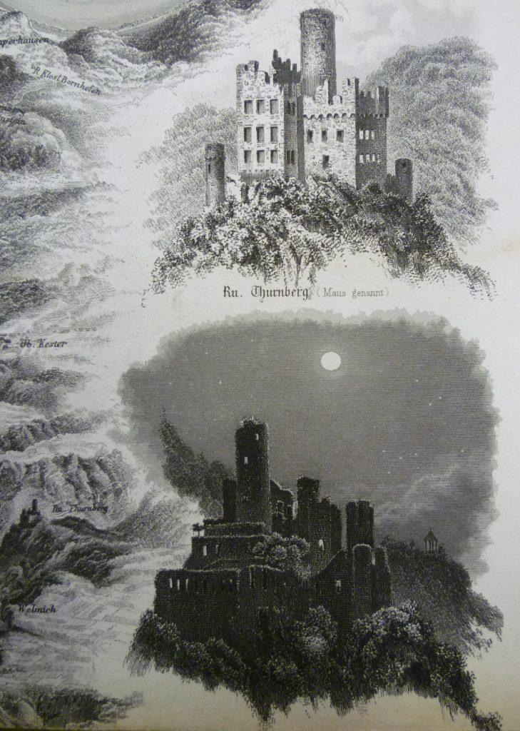 Der Rheinstrom von Mainz bis Cöln. Panorama vom Rhein / aufgen. und in Stahl gest. von Friedrich Foltz. Erschienen: Mainz: Helenza, wohl 1880, gemeinfrei