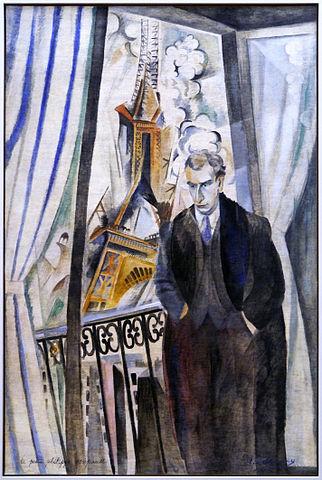Robert Delaunay, Le Poète Philippe Soupault 1922, Musée National d'Art Moderne, Paris. Quelle: Wikimedia Commons, Lizenz: gemeinfrei https://commons.wikimedia.org/wiki/File:Robert_Delaunay_-_Le_Po%C3%A8te_Philippe_Soupault.jpg