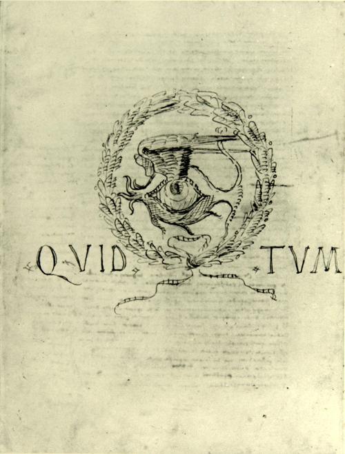 """Leon Battista Alberti, Schlussseite """"Della famiglia"""", um 1438, Bibl. Nazionale Centrale, Florenz, gemeinfrei"""