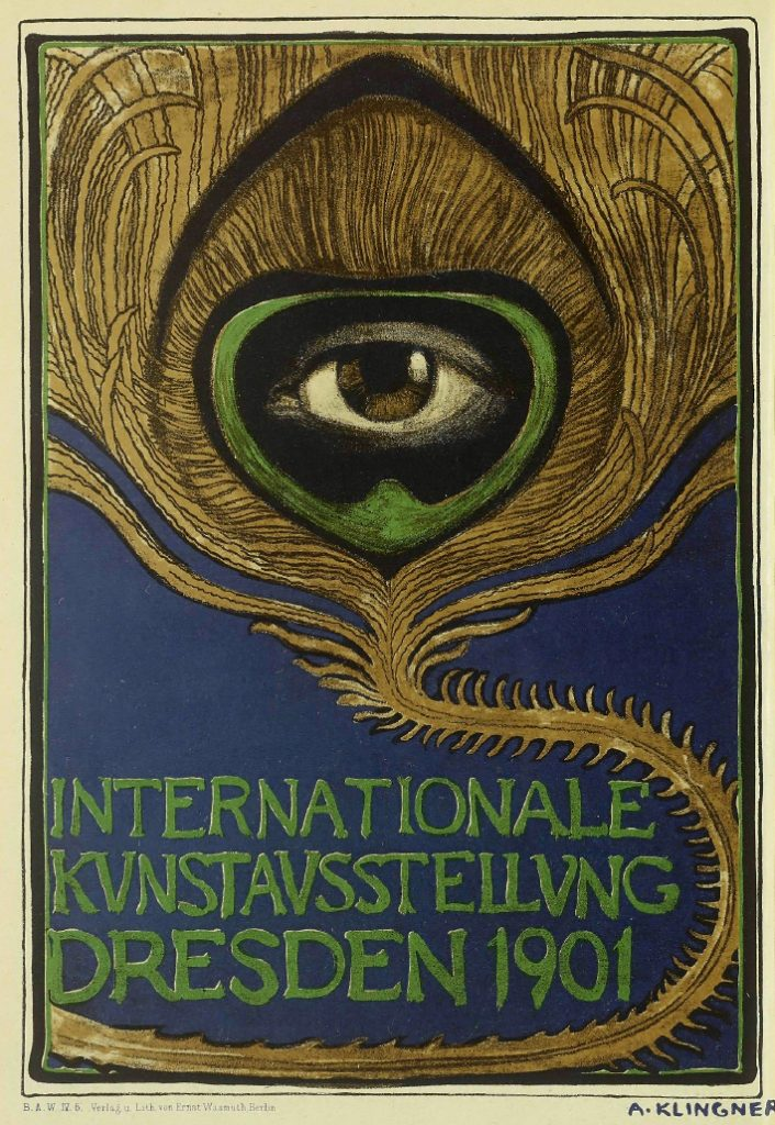 Albert Klingner, Plakat zur Internationalen Kunstausstellung 1901 in Dresden , Quelle: Wikimedia Commons https://commons.wikimedia.org/wiki/File:Internationale_Kunstausstellung_Dresden_1901,_Albert_Klingner.jpg?uselang=de, gemeinfrei