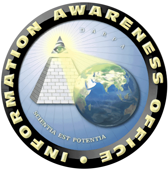 Siegel des Information Awareness Office, Quelle: Wikimedia Commons https://de.wikipedia.org/wiki/Information_Awareness_Office#/media/File:IAO-logo.png, gemeinfrei