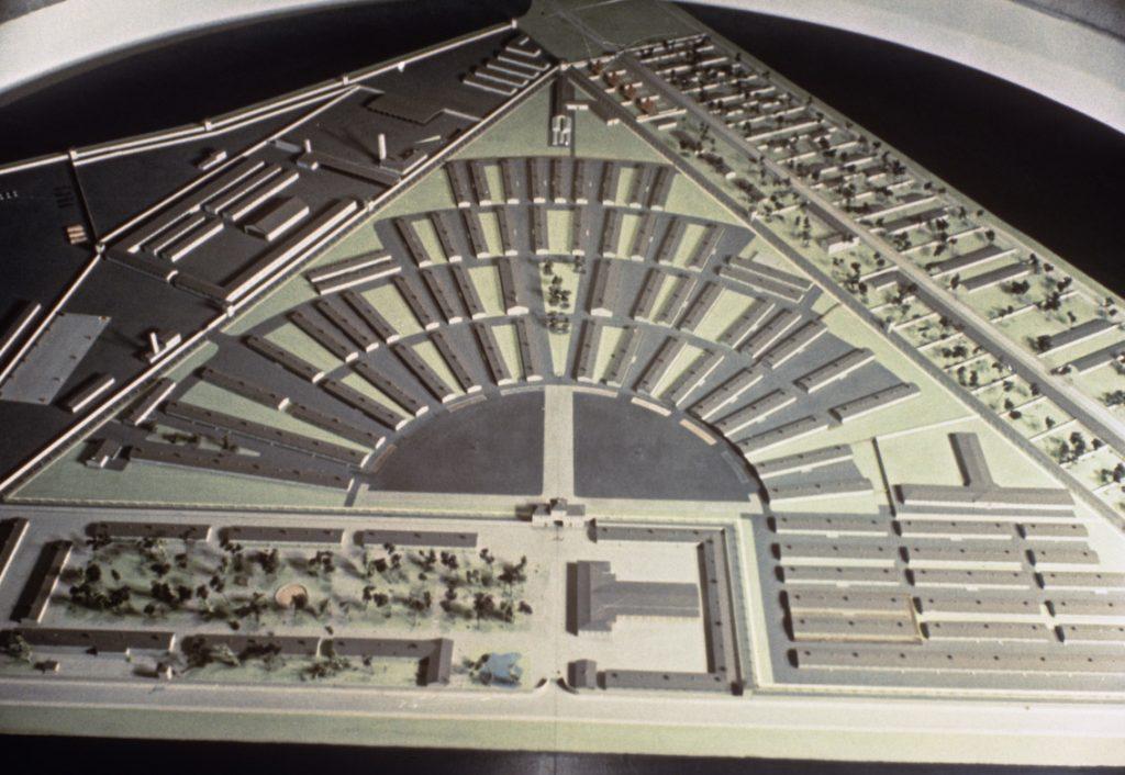 Modell der gesamten Anlage des Konzentrationslagers Sachsenhausen, Fotograf: Heinz Korff, o.D., Bildagentur bpk, Nr. 00010542 / Heinz Korff © mit freundlicher Genehmigung