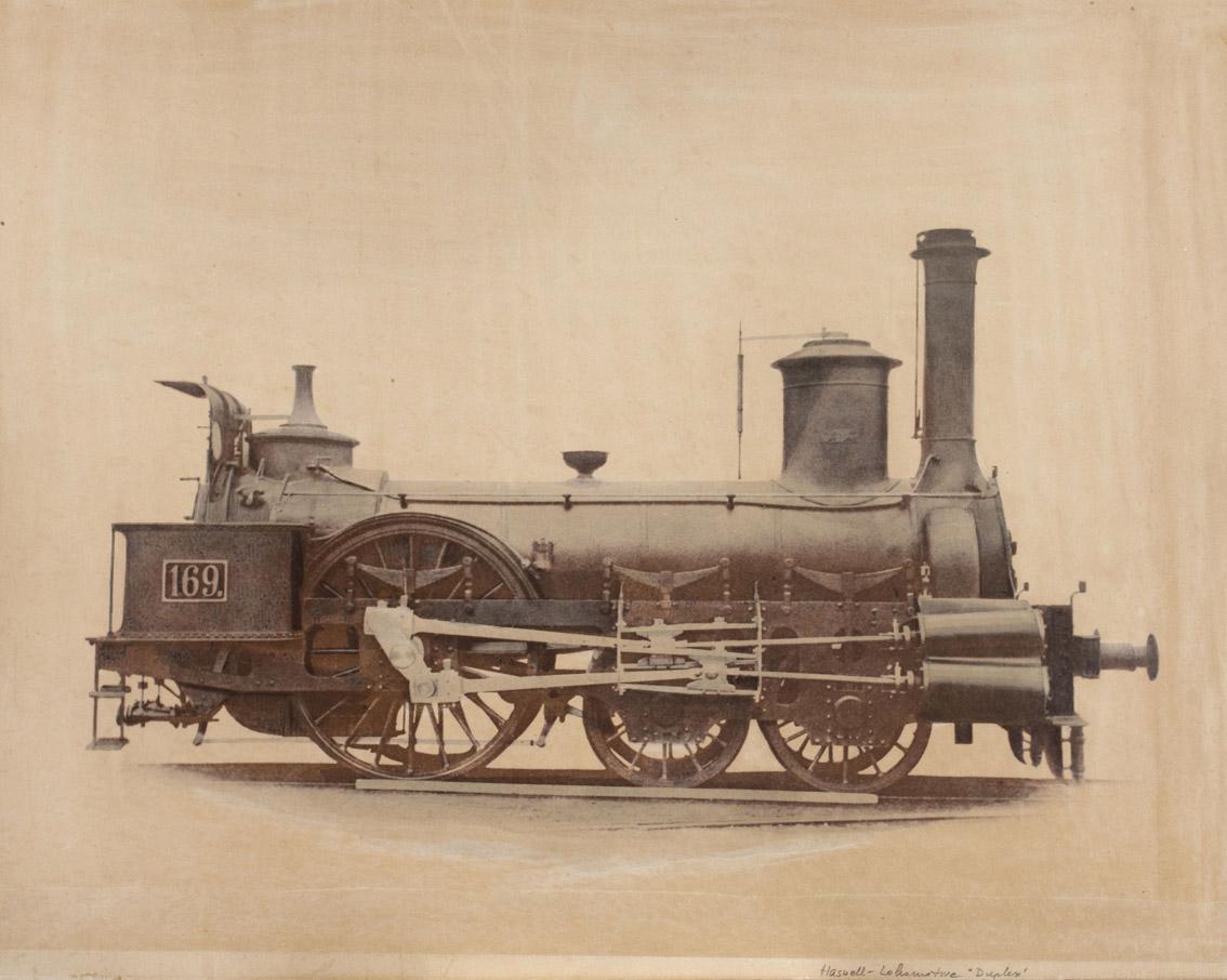 Andreas Groll: Lokomotive Duplex, 1862 © Eisenbahnarchiv, Technisches Museum Wien mit freundlicher Genehmigung