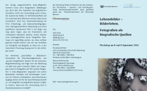 Workshop Lebensbilder