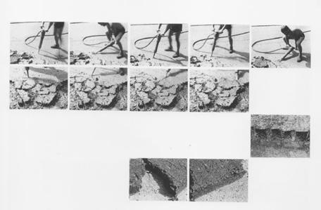 Kurt Buchwald, Die Arbeitsvorgänge, aus der Serie Asphalt und Arbeit, 1987 © mit freundlicher Genehmigung
