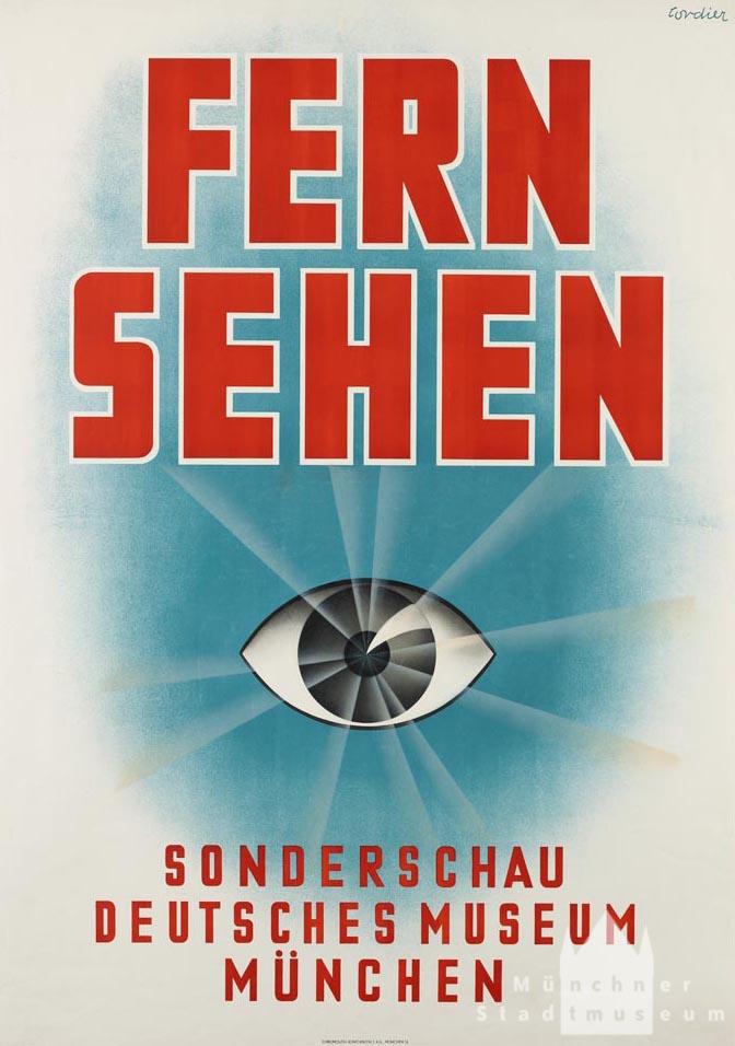 Ausstellungsplakat, Entwurf Eugen M. Cordier, 1937. Quelle: Bildarchiv Münchner Stadtmuseum p C 1/70 © mit freundlicher Genehmigung