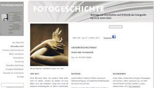 """Aktuelles Heft der """"Fotogeschichte"""" über Mode und Fotografie"""