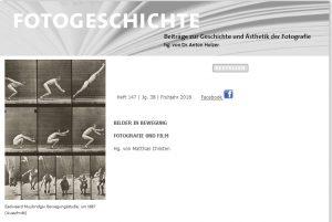 """Aktuelles Heft der """"Fotogeschichte"""" über Fotografie und Film"""