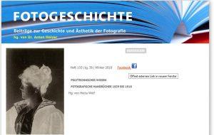 """Aktuelles Heft der """"Fotogeschichte"""" über POLYTECHNISCHES WISSEN"""
