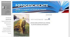 """Aktuelles Heft der """"Fotogeschichte"""": NOMADIC CAMERA. FOTOGRAFIE, EXIL, MIGRATION"""