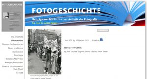 "Aktuelles Heft der ""Fotogeschichte"": PROTESTFOTOGRAFIE"